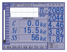 After cooling curve is measured, the adjustment amount of the material is displayed image
