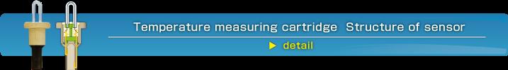 Temperature measuring cartridge Structure of sensor