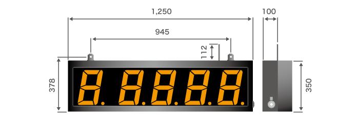 ワイヤレス式 鋳管温度計表示器(JTT-Disp240)寸法