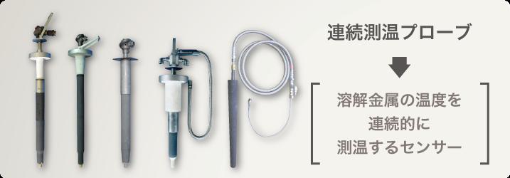 連続測温プローブとは1000℃超の高温下で熱電対を使用した長期間連続温度計測機